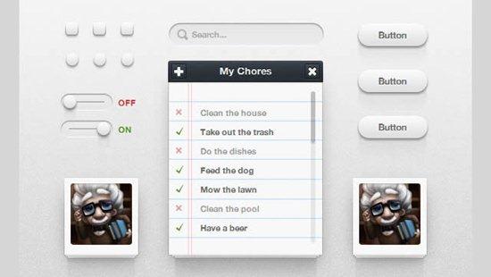 Icon Deposit CSS3 UI Kit