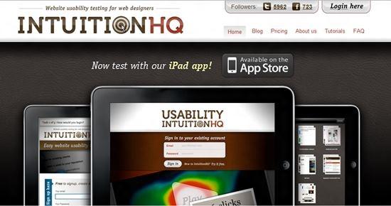 IntuitionHQ Usability Testing