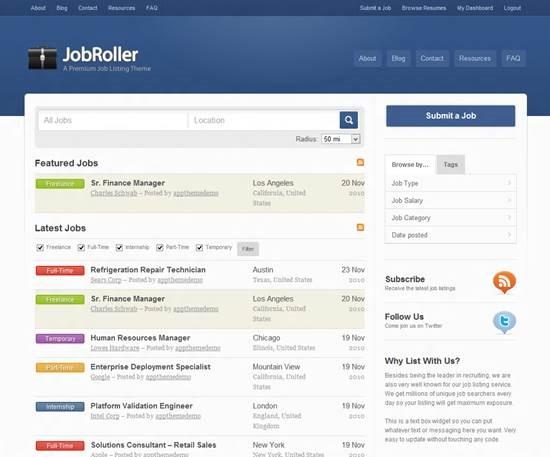JobRoller job board theme for WordPress