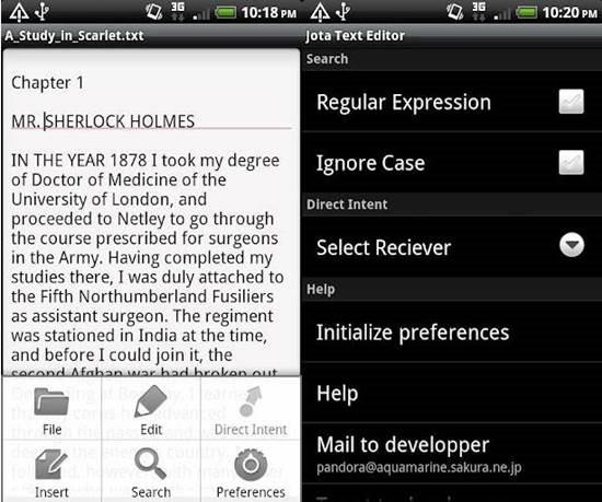 Jota Text Editor apps