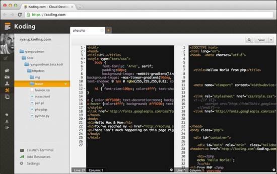Koding - Best Cloud-Based IDEs