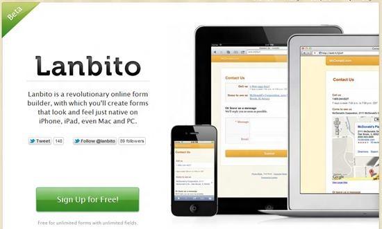 Lanbito mobile friendly forms