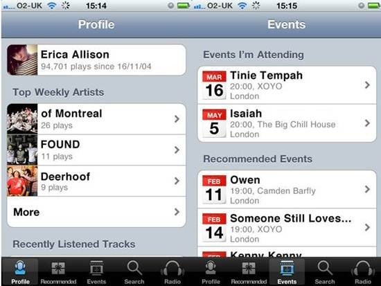 Last.fm for iPhone  - Radio Apps for iPhone