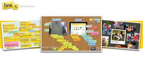 Make a sticky note online with Lino it