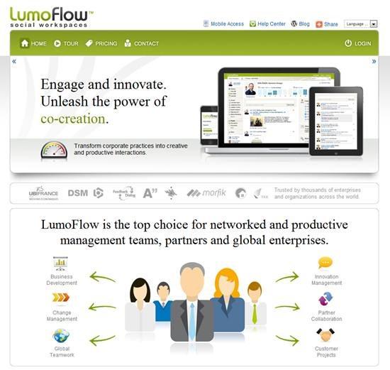 Lumoflow - Cloud based social collaboration platform for enterprises