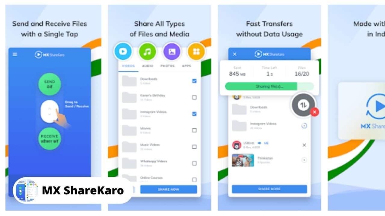 MX ShareKaro - Best Alternative Apps For SHAREit