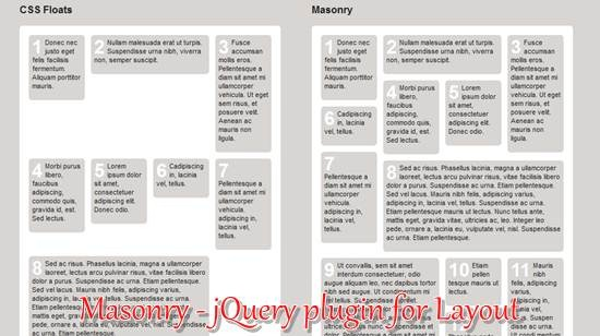 Masonry - jQuery plugin for Layout