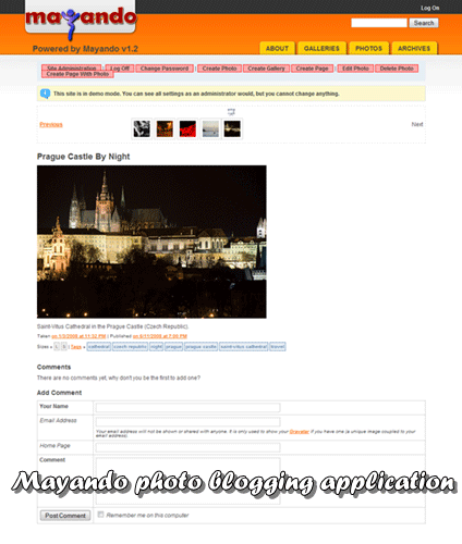 Mayando - Fully-featured photo blogging application