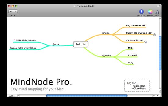 MindNode mind mapping software