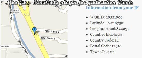 MooGeo - MooTools plugin for geolocation Tasks