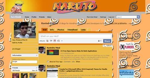 Naruto facebook Theme by Templah