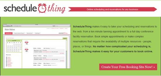 Online scheduling and reservations tool ScheduleThing