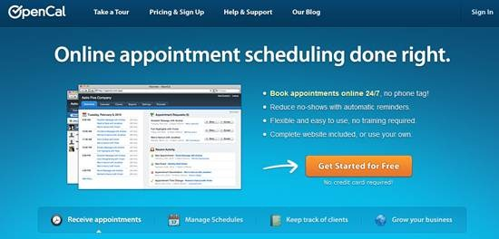 Opencal online scheduling software