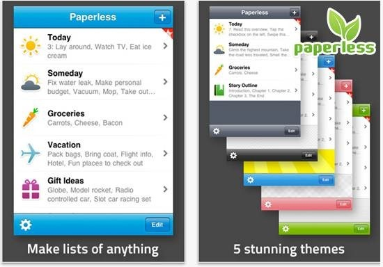Paperless - To do list apps for iPhone