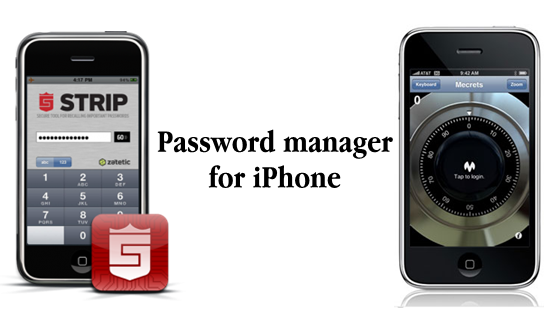 Password manager for iPhone 4