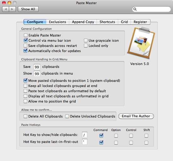 PasteMaster clipboard manager