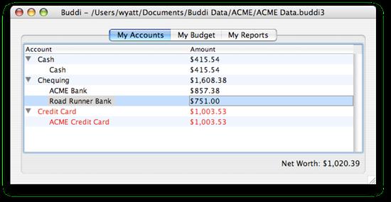 Personal budget software Buddi
