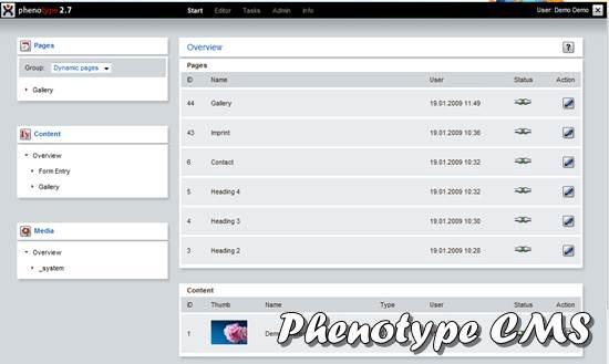 Phenotype CMS - PHP/MySQL based Content Management Framework