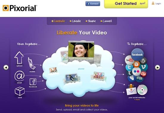 Pixorial online video sharing service