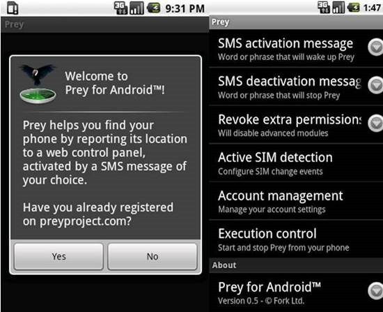 Prey Anti-Theft Best Android Tracking Apps