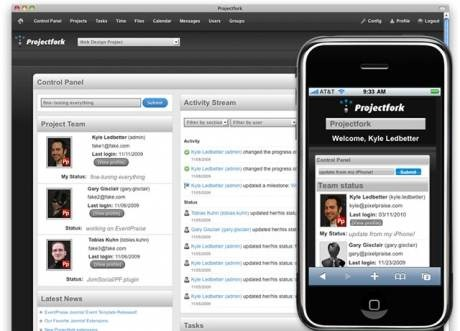 Projectfork - project management components for Joomla