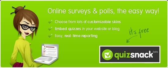 QuizSnack online poll & survey tool