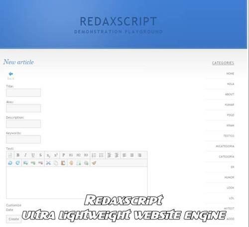 Redaxscript website engine