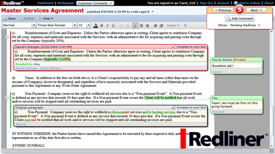 Redliner - Group editing and Document collaboration tool