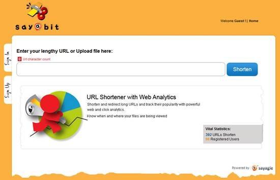 Sayabit URL shortener