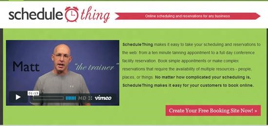 ScheduleThing Top 16 online appointment scheduling software