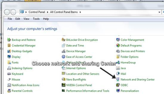 Set up virtual private network on window 7