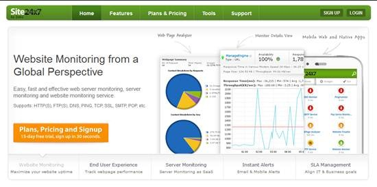 Site24x7 - Best Website Monitoring Tools