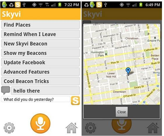 skyvi siri like assistant for android