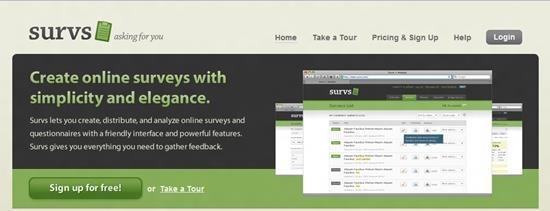 Survs Survey software - Best online survey tools