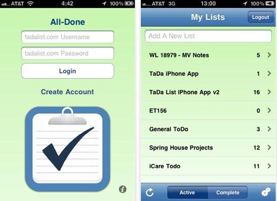 Ta-da List - best to do list for ios