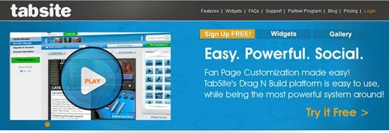 TabSite Facebook Fan page builder