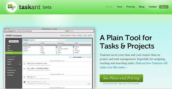 TaskAnt- online project management