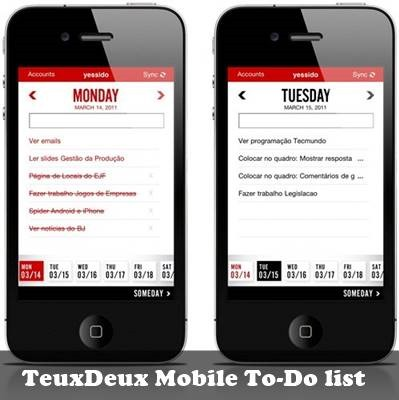 TeuxDeux - best to do list for ios