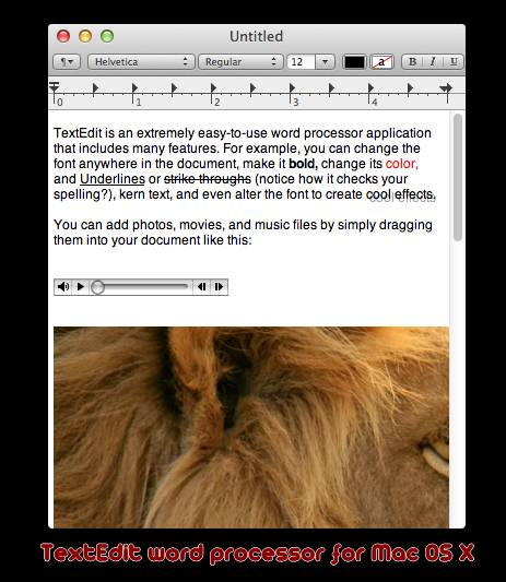 TextEdit free and open source word processor - Best Of