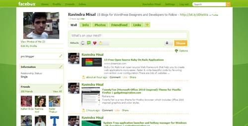 Theme Facebox (Xbox 360) - free facebook themes