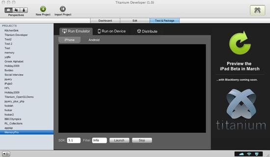 Titanium - Build native mobile and desktop app
