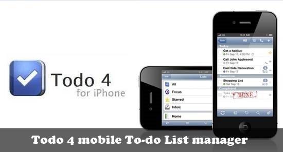 Todo 4 - to do list for ios