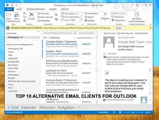 Best Microsoft Outlook Alternatives