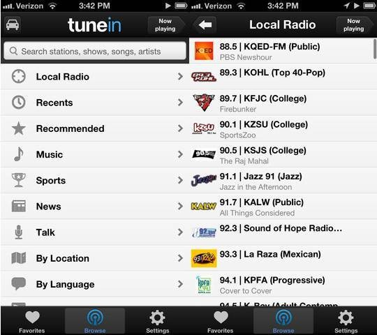 TuneIn Radio - Radio apps for iPhone