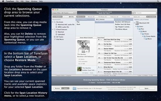 TuneSpan for iTunes on the Mac