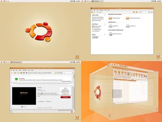 Ubuntu_XP 55 most Beautiful free Window XP Themes and Visual Styles