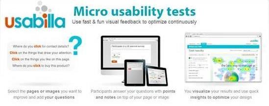 Usabilla Online Micro Usability Testing platform