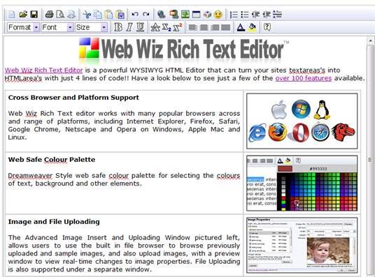 Web Wiz Rich Text Editor
