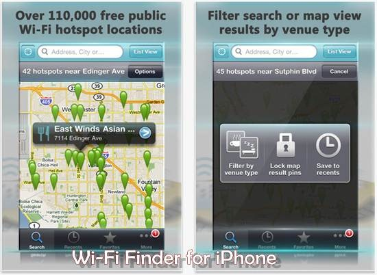 Free Wi-Fi Finder for iPhone