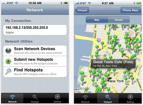 WiFiGet for iPhone